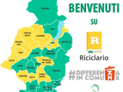Differenza in Comune. 26 Comuni dellaComunità Montana di Valle Sabbia hanno scelto RICICLARIO.