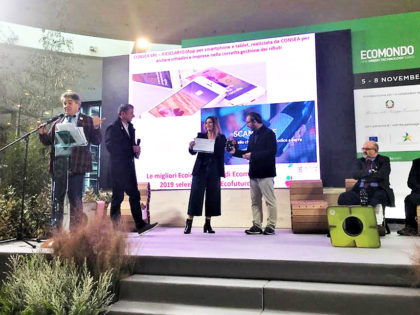 L'app Riciclario è tra le dieci ecoinnovazioni premiate a Ecomondo 2019.